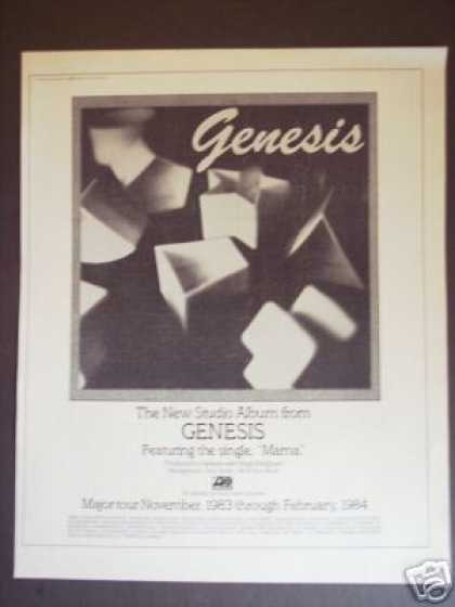 Genesis Record Album Mama & Major Tour Promo (1983)