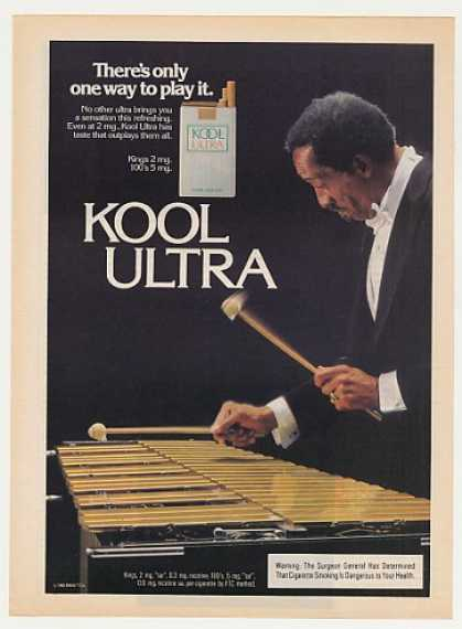 Man Plays Xylophone Kool Ultra Cigarette Photo (1982)