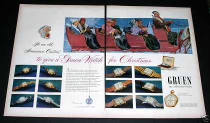 Old , Gruen Watches for Christmas (1949)