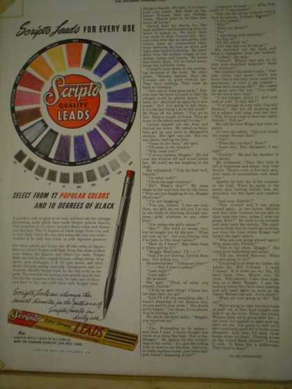 Scripto Quality Leads Pencils Color leads (1941)