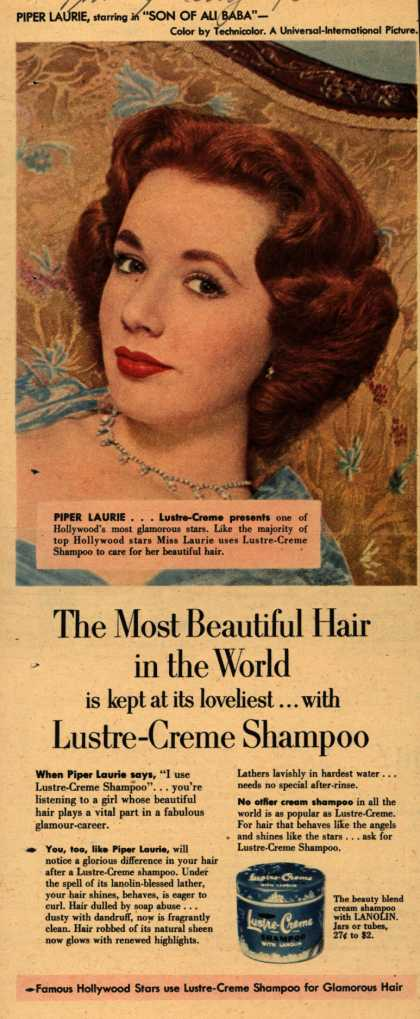 Kay Daumit's Lustre-Creme Shampoo – The Most Beautiful Hair in the World is kept at its loveliest... with Lustre-Creme Shampoo (1952)