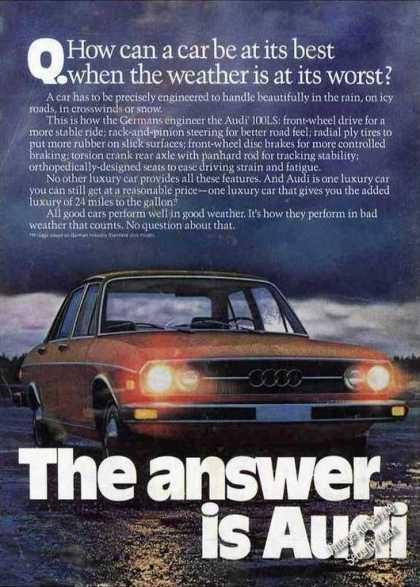 Audi 100ls Best In Bad Weather Car (1975)