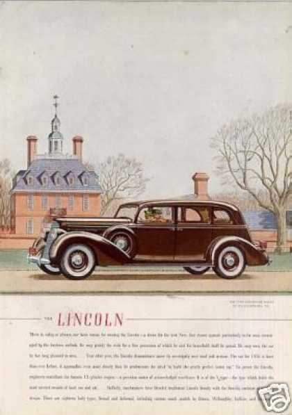 Lincoln Five-passenger Sedan Color (1936)