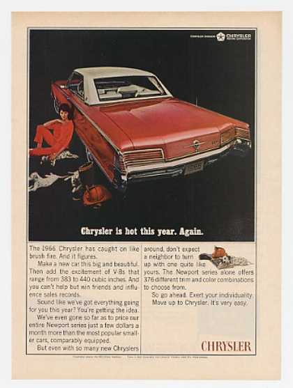 '65 1966 Red & White Chrysler 300 2-Door Hardtop (1965)