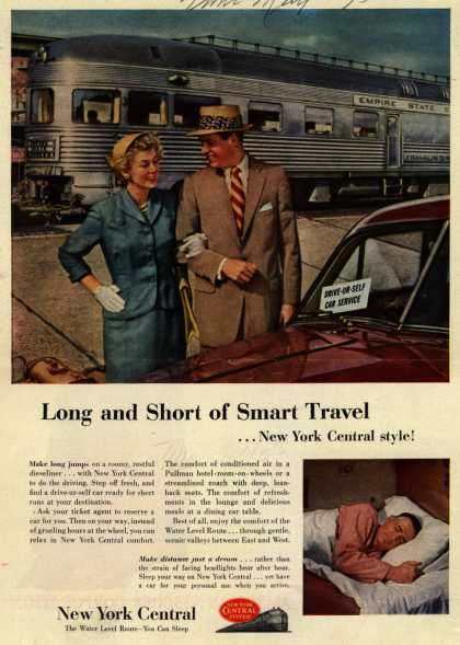 New York Central System – Long and Short of Smart Travel...New York Central style (1953)
