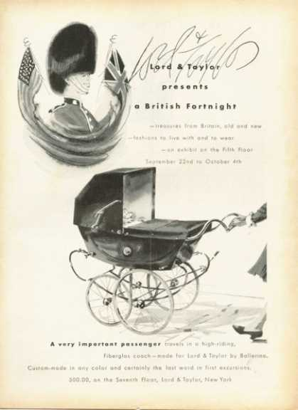 Lord & Taylor British Fortnight Baby Carriage (1958)