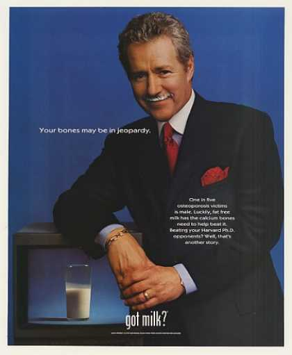Jeopardy Alex Trebek Got Milk Mustache Photo (1999)
