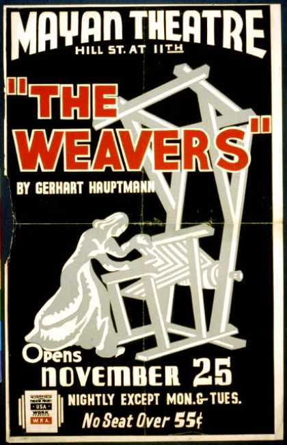 """The weavers"" by Gerhart Hauptmann opens November 25. (1936)"