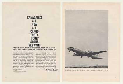 Canadair Forty Four 44 Cargo Aircraft 2-Page (1960)