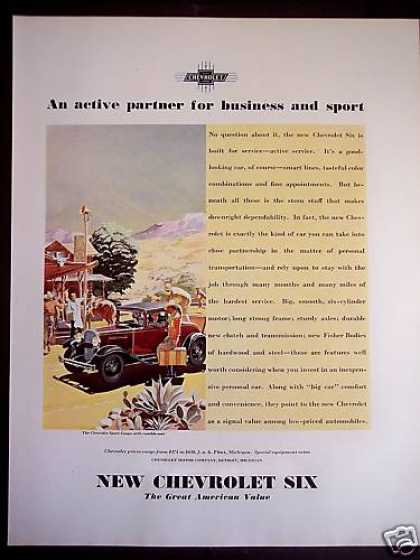 'new' Chevrolet Six Automobile Car (1931)