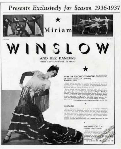 Miriam Winslow & Her Dancers Nice Photos (1936)