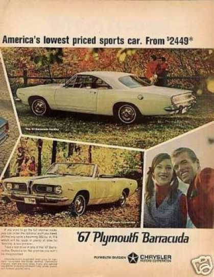 Plymouth Barracuda Cars Ad Centerfold (1967)