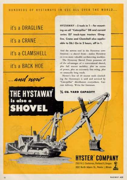 Hyster Company Hystaway Is Also a Shovel (1950)