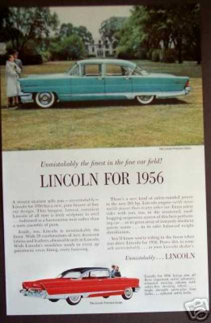 Lincoln Premiere Sedan for 1956 Car (1955)