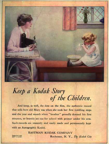 Kodak's Autographic cameras – Keep a Kodak Story of the Children (1917)