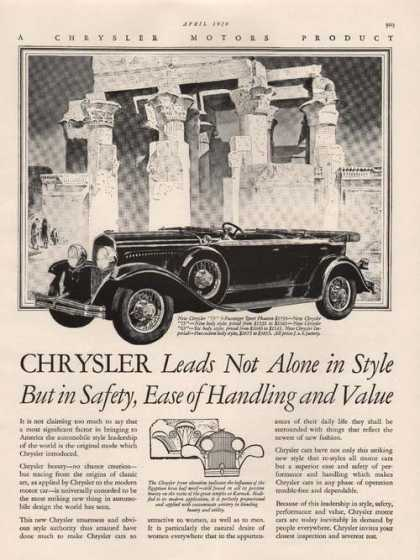 Chrysler Leads Not Alone Car (1929)
