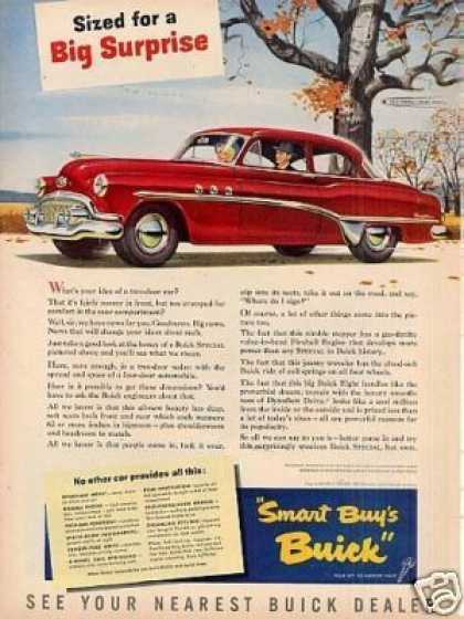 "Buick Special Car Ad ""Sized for a Big... (1951)"