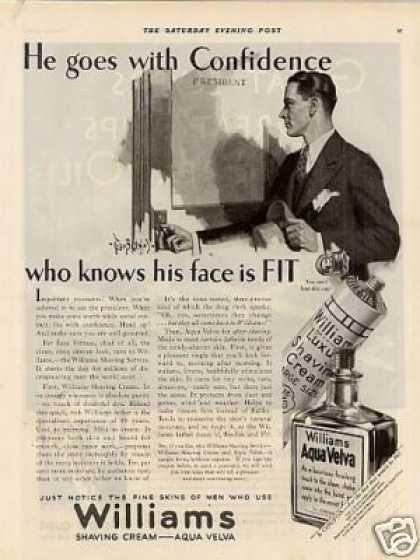 Williams Shaving Cream (1929)