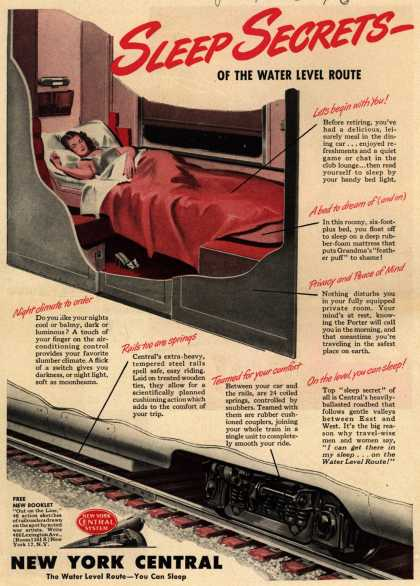 New York Central System's Water Level Route – Sleep Secrets – of the Water Level Route (1946)