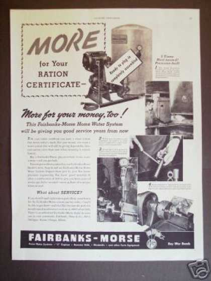 Fairbanks-morse Home Water Pump System Original (1943)