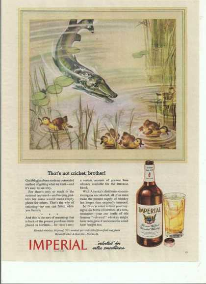 Imperial Whiskey Fish and Ducks (1944)