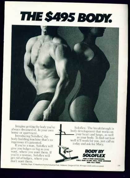 Muscle Man & Buff Woman In Body By Soloflex C (1982)
