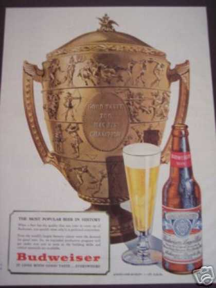 Budweiser Beer Gold Trophy (1947)