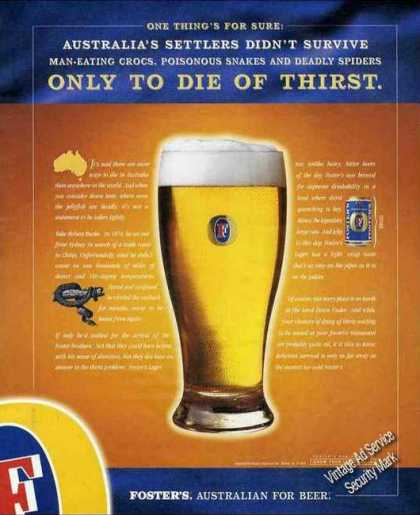 "Foster's Australian Beer ""Die of Thirst"" (2001)"