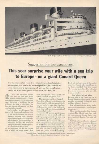 Cunard Queen Mary Cruise Ship Boat (1964)