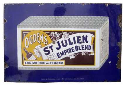 Ogden's St Julien Empire Blend Tobacco Sign Small