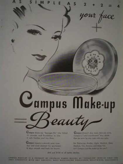 Your face + Campus makeup = Beauty (1943)