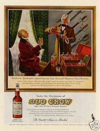 "Old Crow Whiskey Ad ""Andrew Jackson Entertains... (1961)"