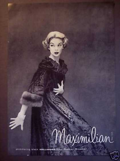 Maximillian Fashion Clothing Fur Coat (1956)