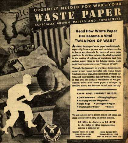 War Production Board's Waste Paper – Waste Paper (1943)