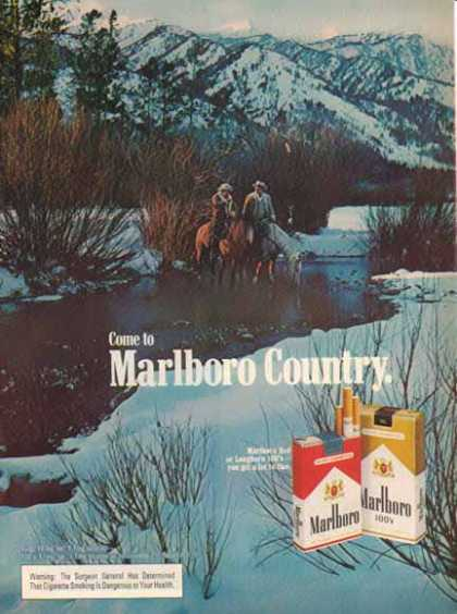 Marlboro Country Cigarettes – Horses in a Stream – Sold (1976)
