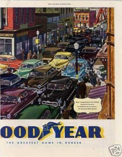 Goodyear Ad 2 Page (1951)