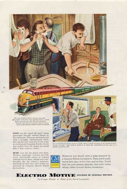 Gm Gneral Motors Locomotive Train Ad T (1949)