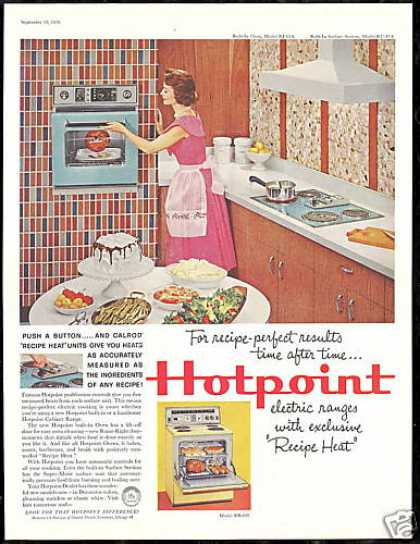 Hotpoint Kitchen Appliances Oven Stove Photo (1959)