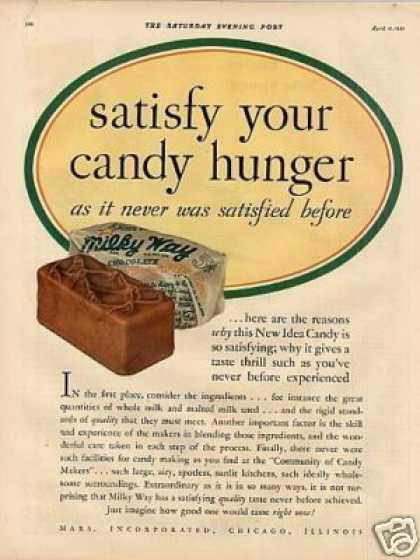 Milky Way Candy Bar Color (1931)