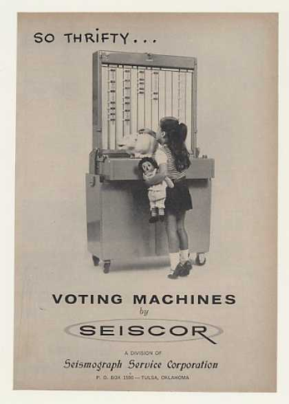 Seiscor Voting Machine Girl Raggedy Ann Doll (1964)