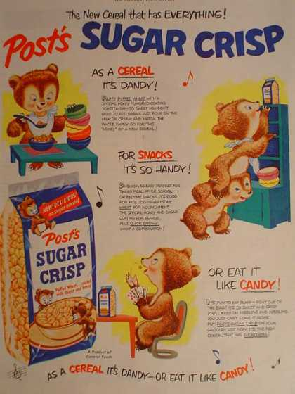 Post Sugar Crisp Cereal Bears theme (1950)