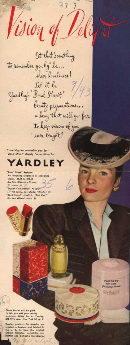 Yardley of London's Bond Street Beauty Preparations – Vision of Delight (1943)