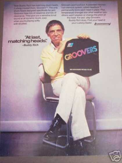 Buddy Rich Photo Groovers Drum Heads (1979)