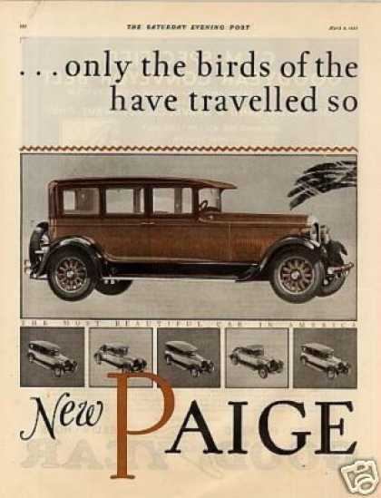 Paige Eight Car Color Ad 2 Page (1927)