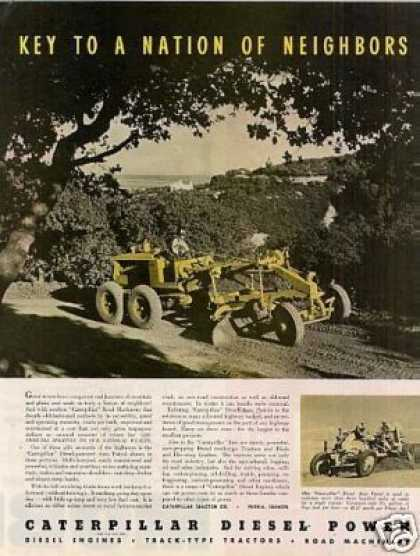 Caterpillar Diesel Auto Patrol Tractor Color (1939)
