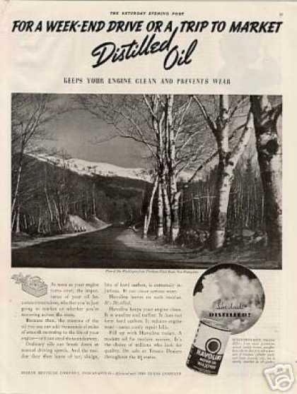 Havoline Oil Ad Mt. Washington/new Hampshire (1938)