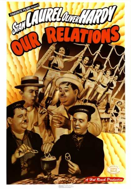 Laurel and Hardy Our Relations (1936)
