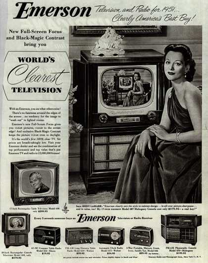 Emerson Radio and Phonograph Corporation's Various – Emerson, Television and Radio for 1951... Clearly America's Best Buy (1951)