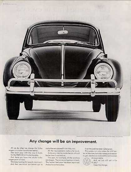 "Volkswagen Car Ad ""Any Change Will Be... (1964)"
