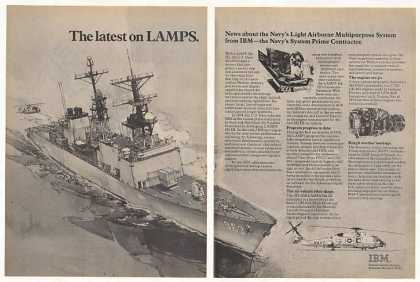 US Navy LAMPS Mk III DD-963 Ship IBM (1979)